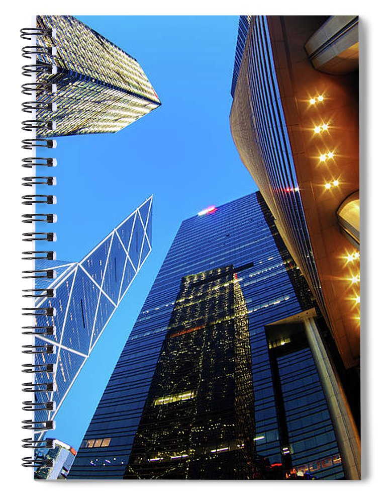 Corporate Business Spiral Notebook featuring the photograph Corporate Buildings by Samxmeg