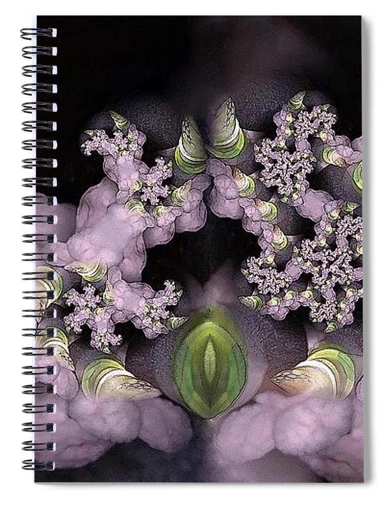 Collage Spiral Notebook featuring the digital art Cotten Tail by Ron Bissett