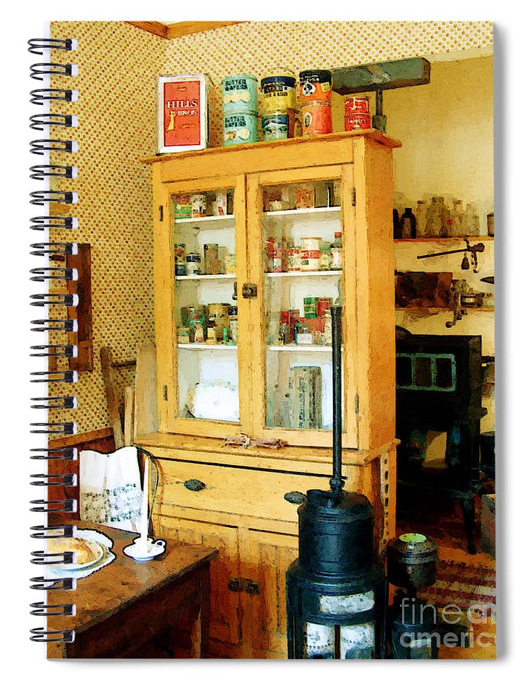 Antiques Spiral Notebook featuring the painting Country Kitchen Sunshine IIi by RC DeWinter