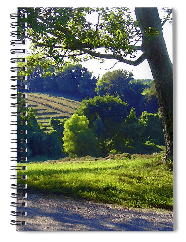 Landscape Spiral Notebook featuring the photograph Country Landscape by Steve Karol