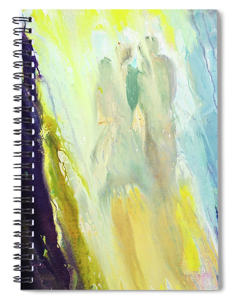 Art Spiral Notebook featuring the digital art Couple by Balticboy
