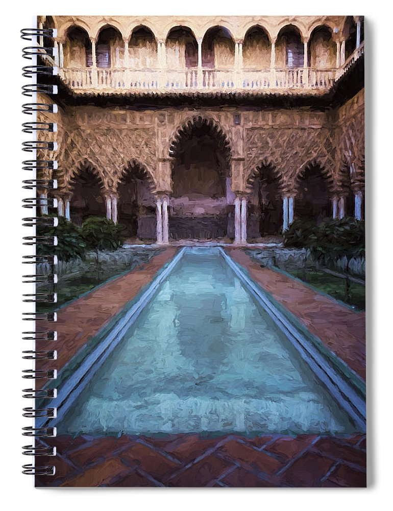 Joan Carroll Spiral Notebook featuring the photograph Courtyard Of The Maidens by Joan Carroll