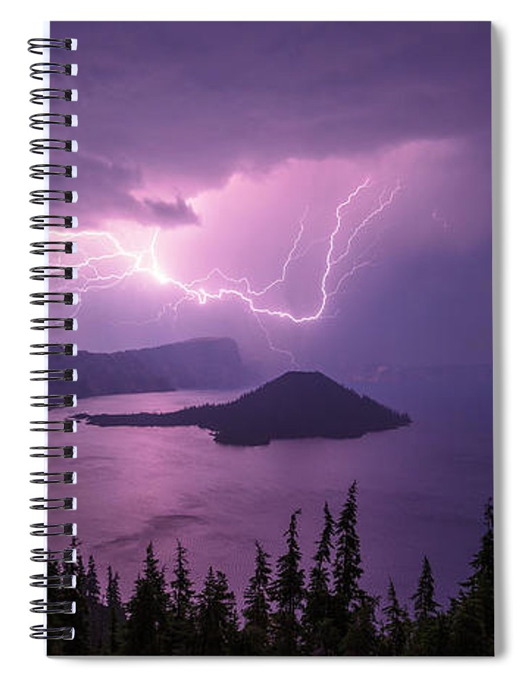 Crater Storm Spiral Notebook featuring the photograph Crater Storm by Chad Dutson