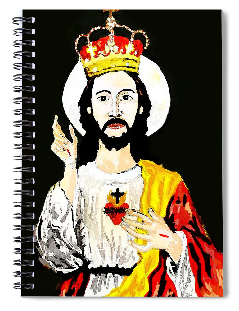 Jesus Spiral Notebook featuring the digital art Cristo Rei by Paul Sutcliffe