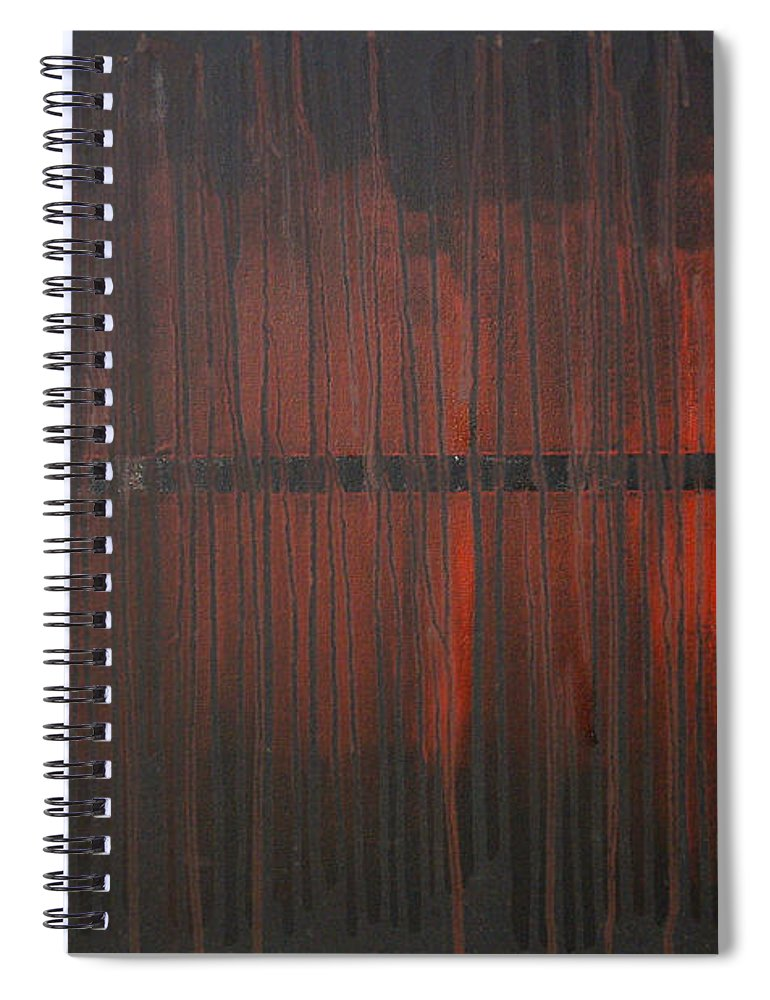 Fantasy Spiral Notebook featuring the painting Cross the Line by Sergey Bezhinets