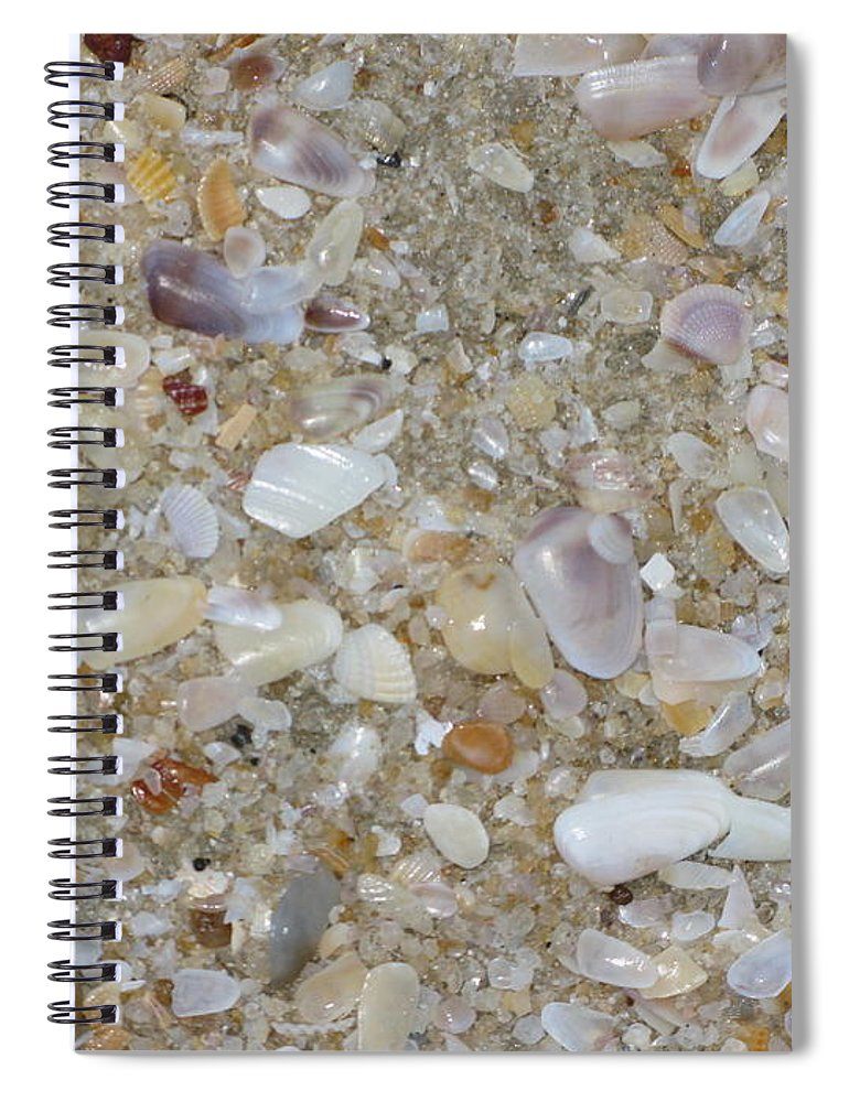 Crystal Shells Spiral Notebook featuring the photograph Crystal Shells by Mini Arora