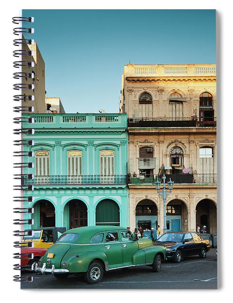 People Spiral Notebook featuring the photograph Cuba, Havana, Havana Vieja, Outside T by Walter Bibikow