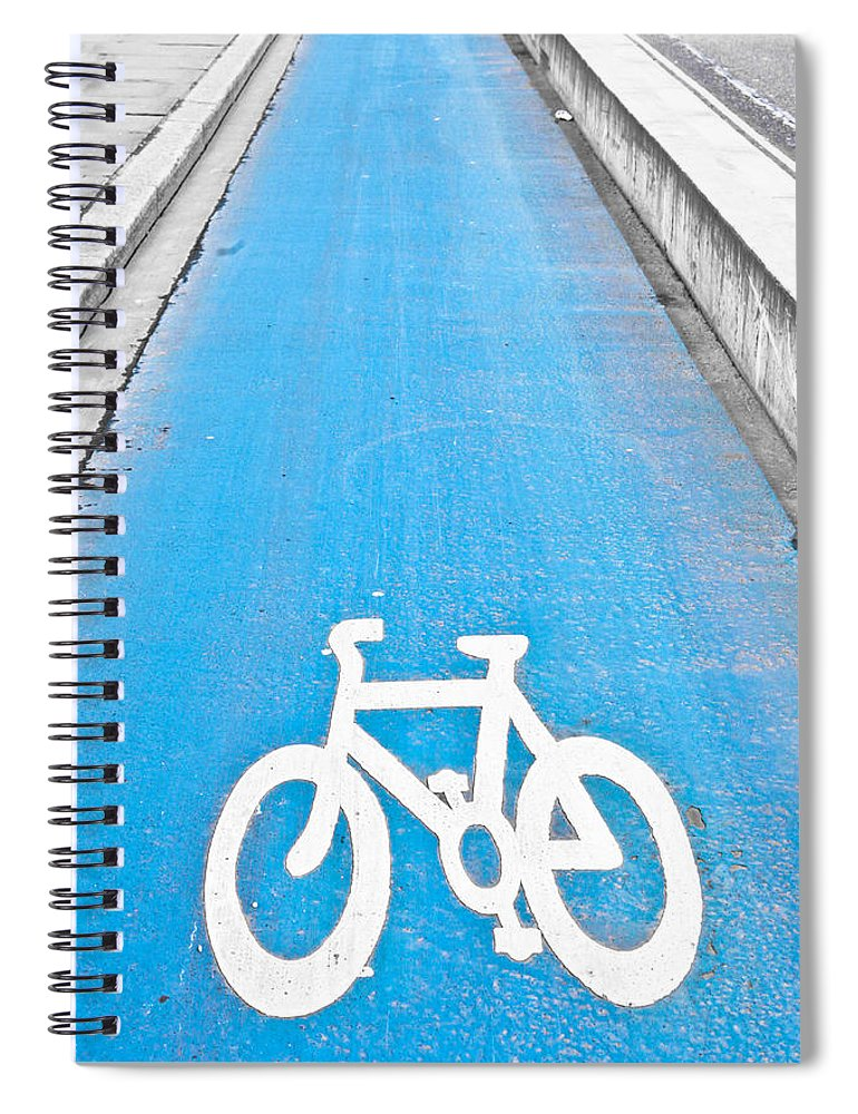 Active Spiral Notebook featuring the photograph Cycle Path by Tom Gowanlock
