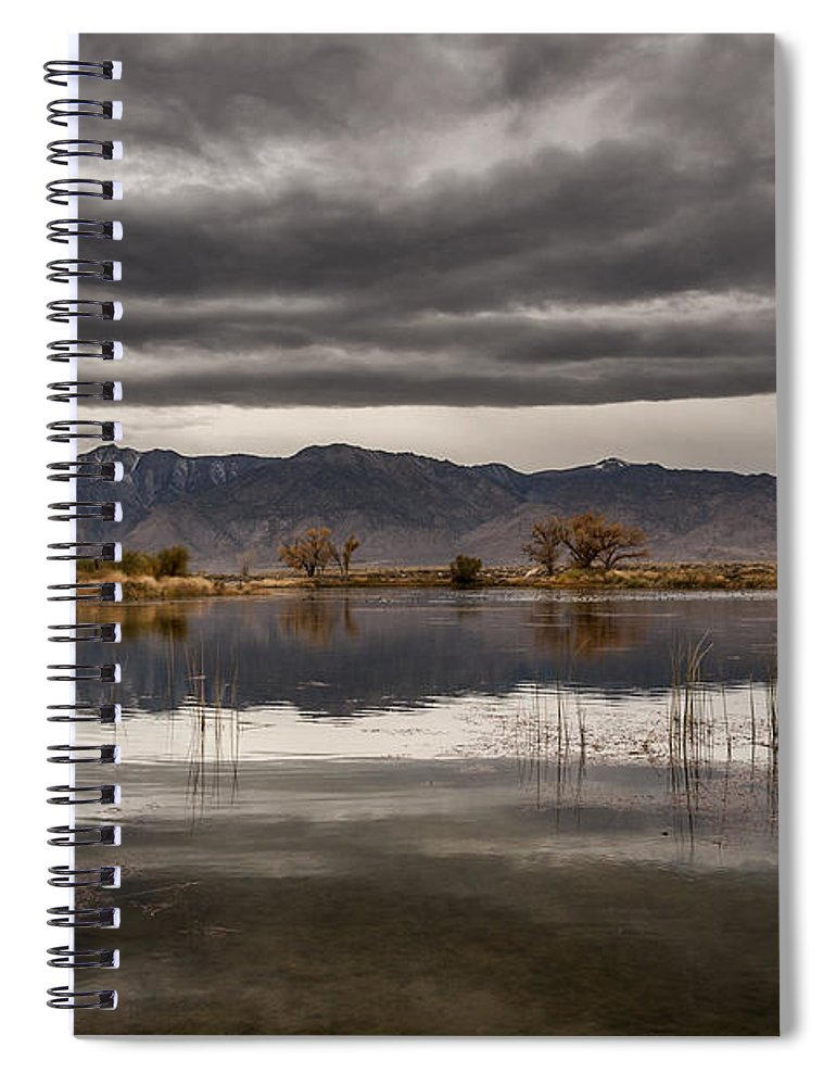 Lake Spiral Notebook featuring the photograph Dark And Gloomy by Cat Connor