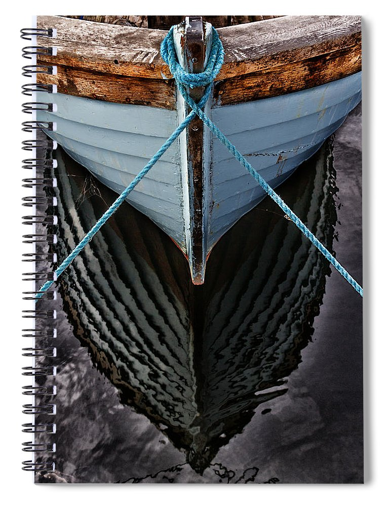 Bay Spiral Notebook featuring the photograph Dark Waters by Stelios Kleanthous