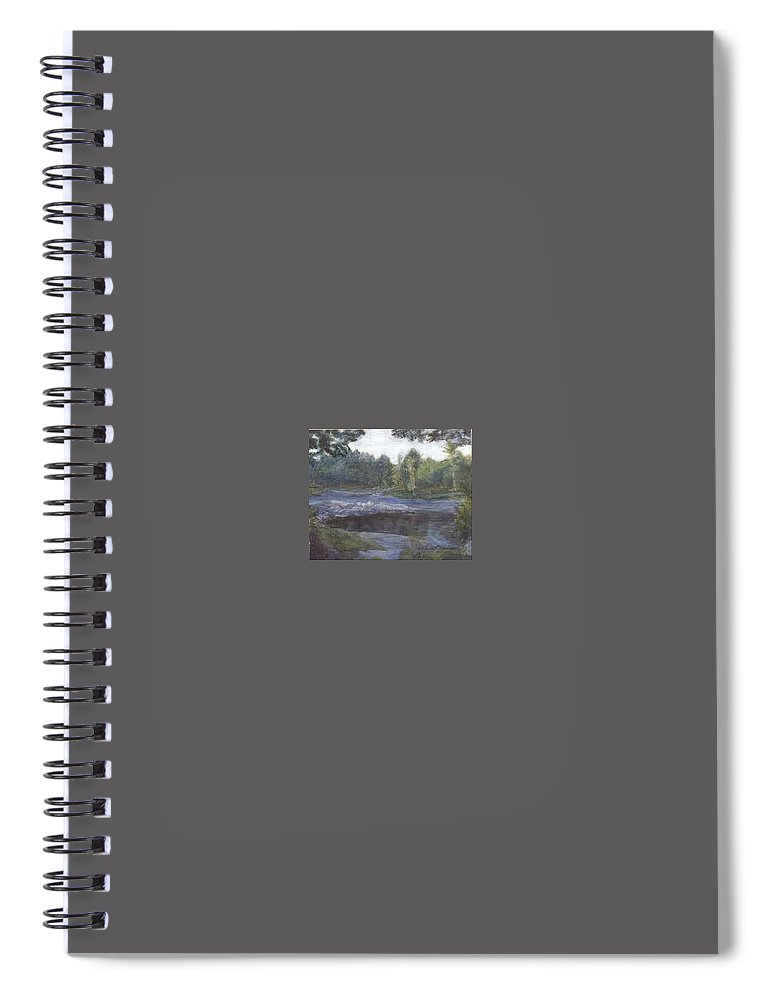 Dawn Spiral Notebook featuring the painting Dawn by Sheila Mashaw