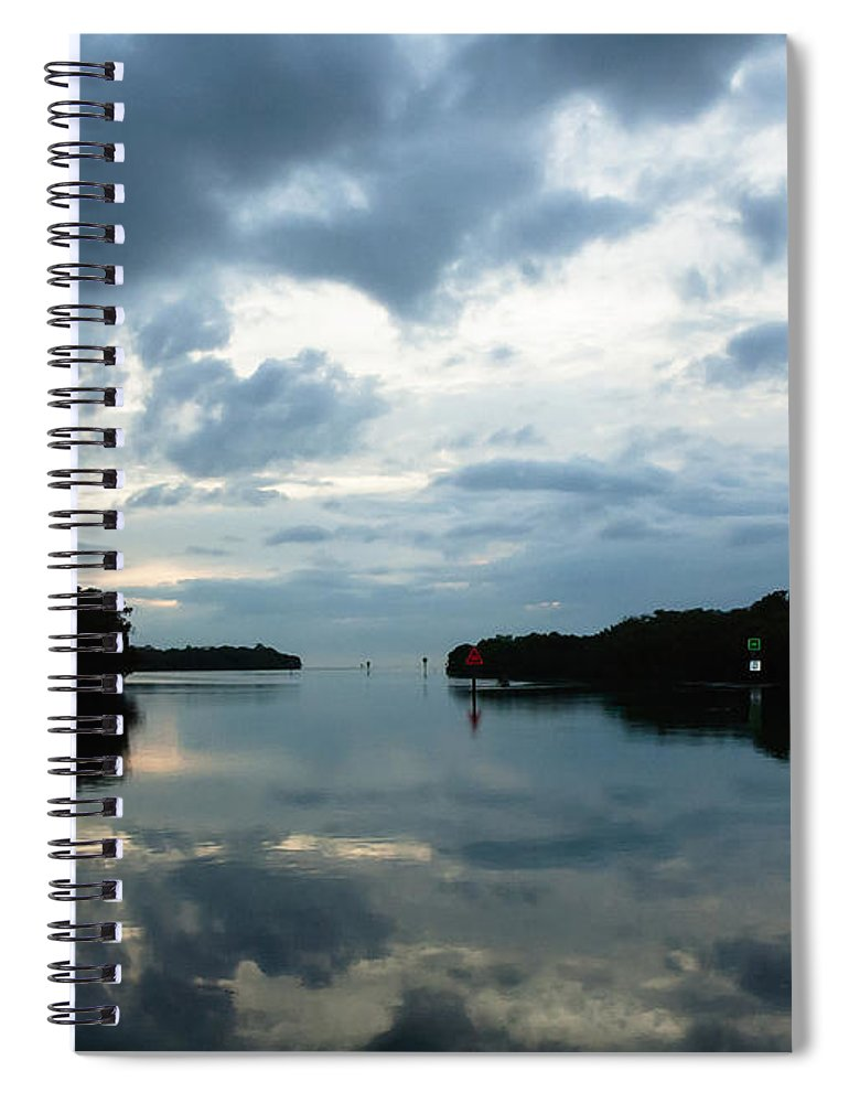 Seascape Spiral Notebook featuring the photograph Days End by Norman Johnson