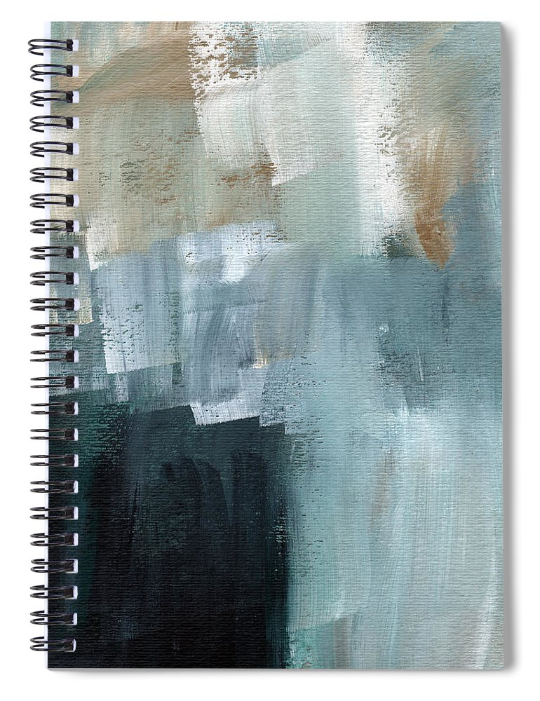 Abstract Art Spiral Notebook featuring the painting Days Like This - Abstract Painting by Linda Woods