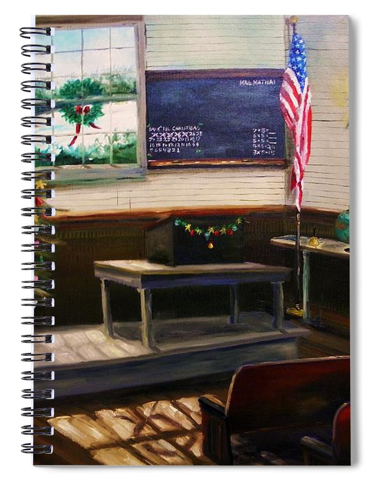 Oil Spiral Notebook featuring the painting Days Til Christmas by John Williams