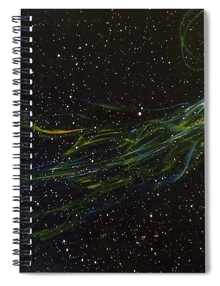 Abstract Spiral Notebook featuring the painting Death Throes by Sean Connolly