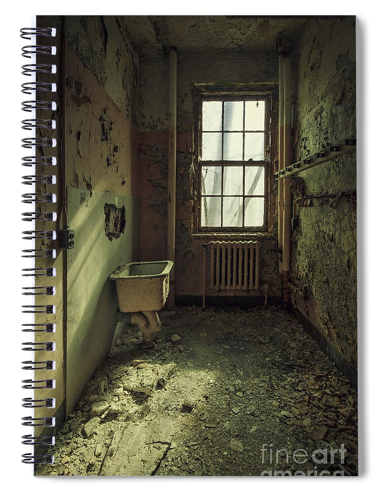 Abandoned Spiral Notebook featuring the photograph Decade Of Decay by Evelina Kremsdorf