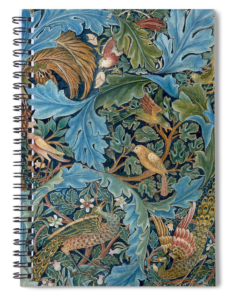 William Morris Spiral Notebook featuring the painting Design For Tapestry by William Morris