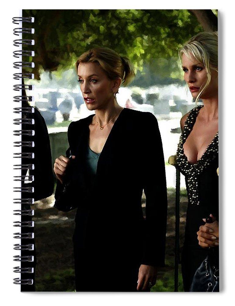 Art Prints Spiral Notebook featuring the digital art Desperate Housewives TV serie - 1 by Gabriel T Toro
