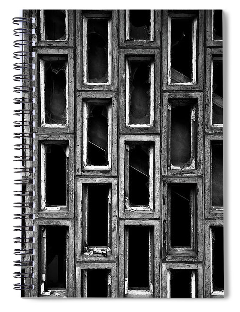 Rectangle Spiral Notebook featuring the photograph Destruction by Ssmyg