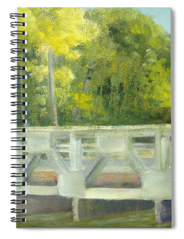 Smithville Park Spiral Notebook featuring the painting Do You Paint Fish? by Sheila Mashaw