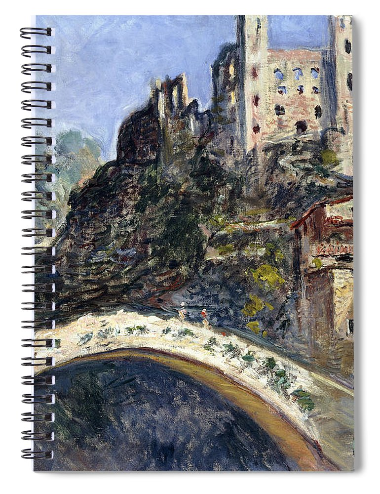 Monet Spiral Notebook featuring the painting Dolceacqua by Claude Monet