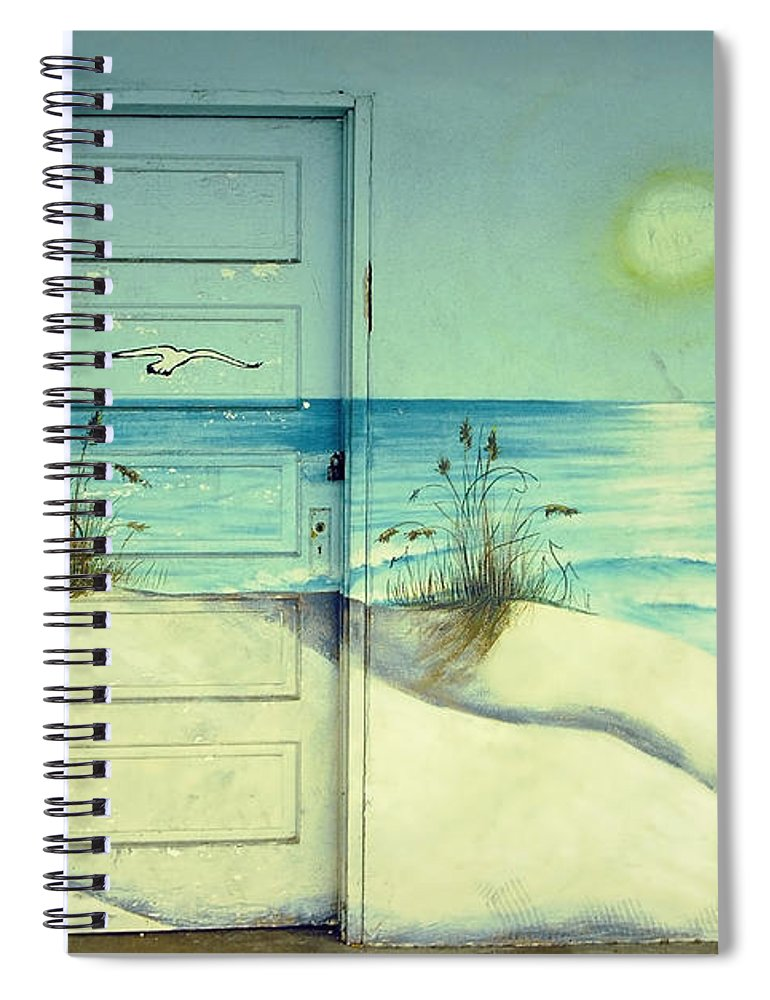 Architecture Spiral Notebook featuring the photograph Door of Perception by Skip Hunt