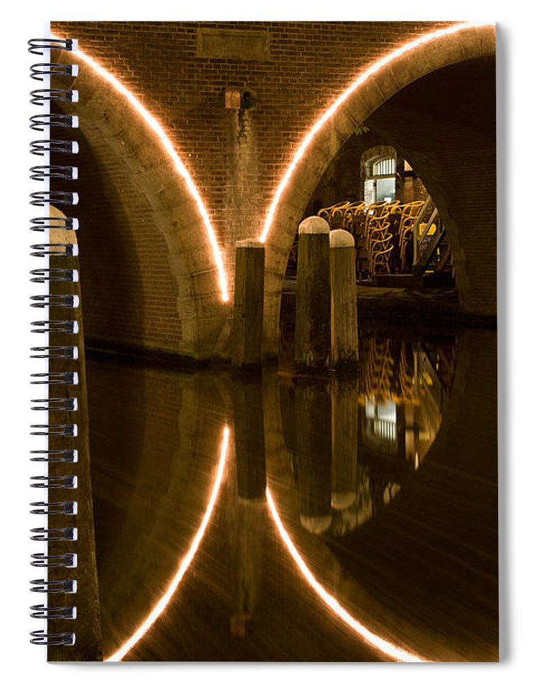 Europe Spiral Notebook featuring the photograph Double Tunnel by John Wadleigh