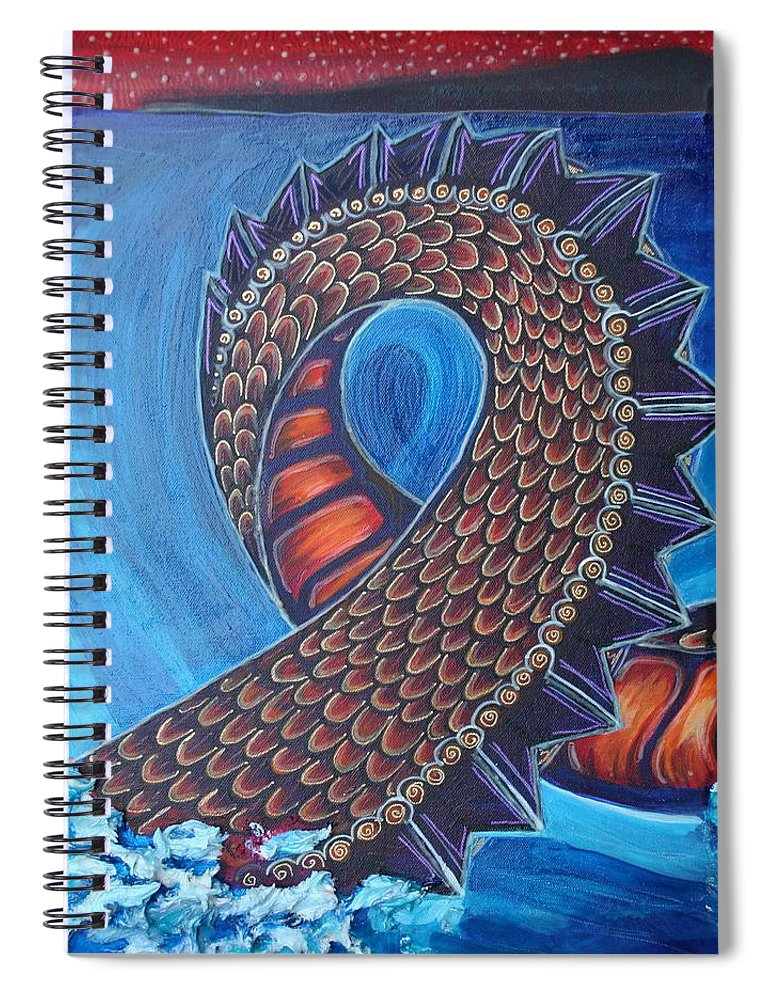 Dragon Spiral Notebook featuring the painting Dragon Two by Kate Fortin