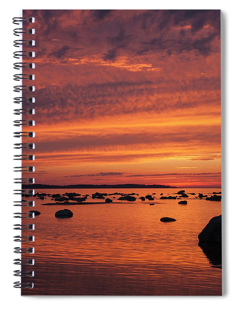 Tranquility Spiral Notebook featuring the photograph Dramatic Sunset Light by Franz Aberham