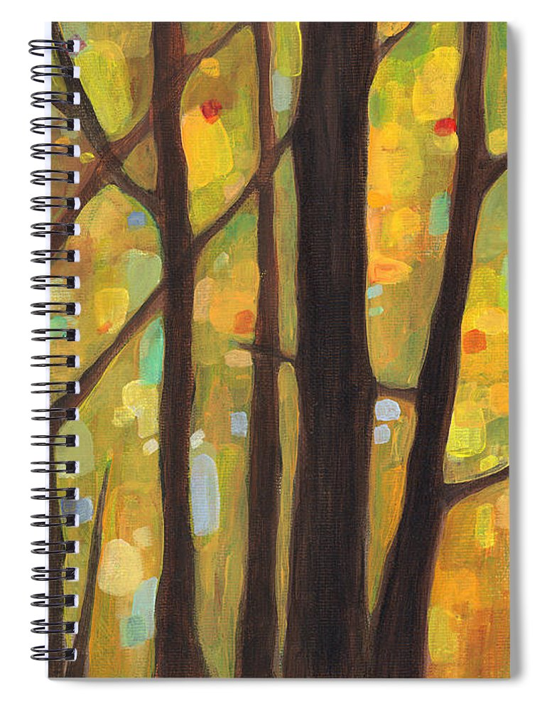 Dreaming Spiral Notebook featuring the painting Dreaming Trees 1 by Hailey E Herrera