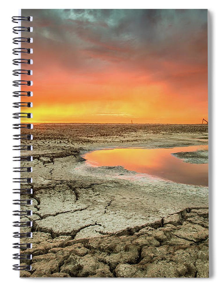 Tranquility Spiral Notebook featuring the photograph Droughts Bane by Aaron Meyers