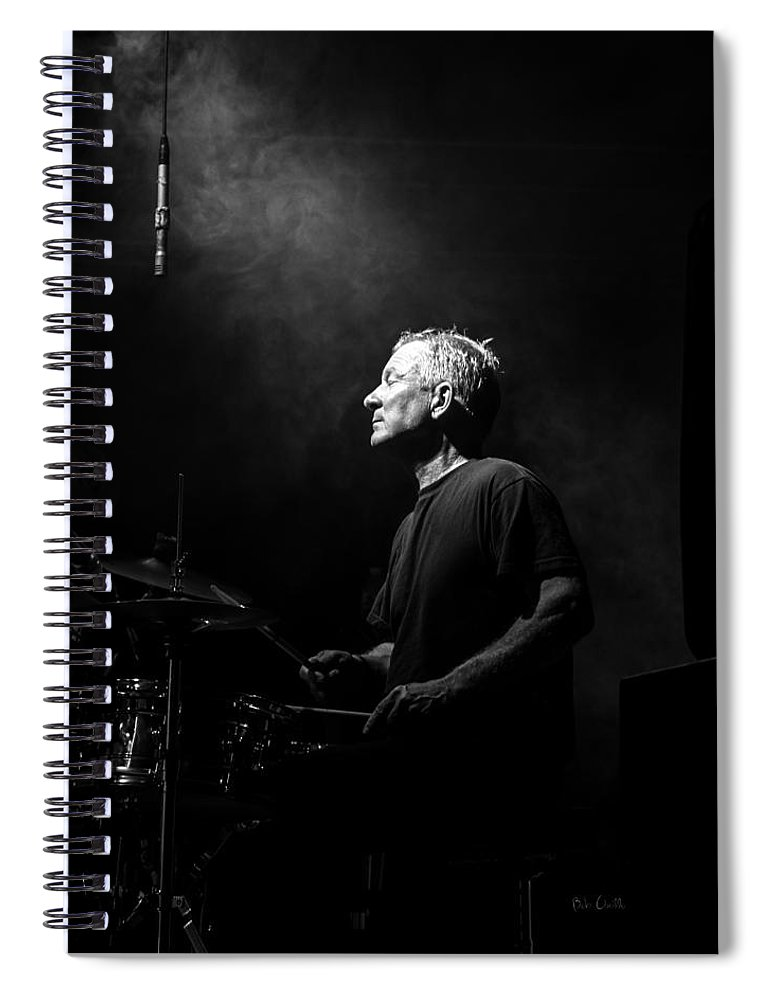 Drummer Spiral Notebook featuring the photograph Drummer Portrait of a Muscian by Bob Orsillo