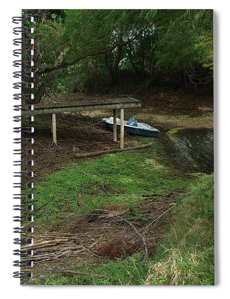 Angling Spiral Notebook featuring the photograph Dry Docked by Peter Piatt