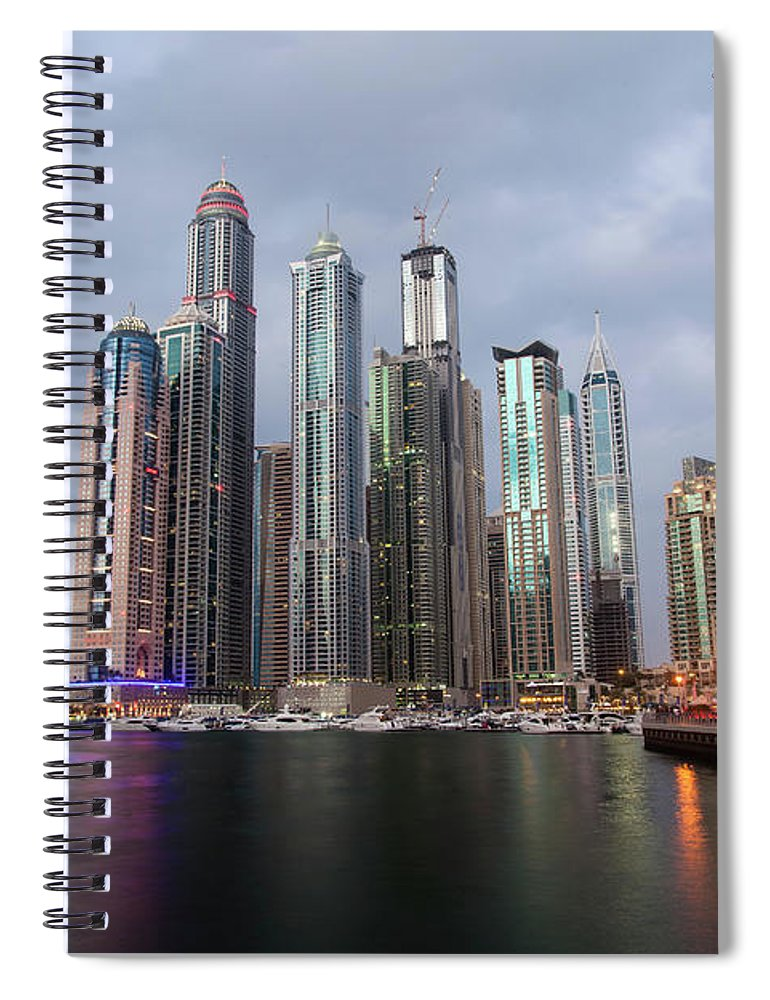 Financial District Spiral Notebook featuring the photograph Dubai Marina Afternoon by Brad Rickerby