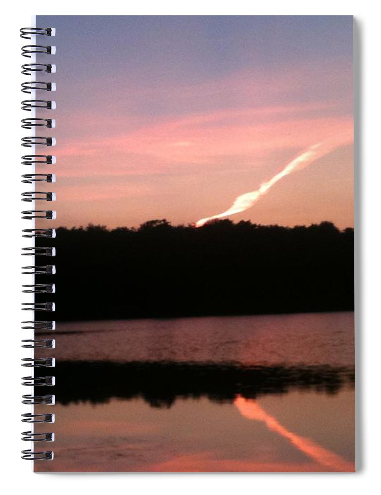 Dusk Spiral Notebook featuring the photograph Dusk in the Poconos by Sheila Mashaw