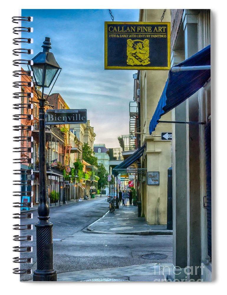 2014 Spiral Notebook featuring the photograph Early Morning In French Quarter Nola by Kathleen K Parker