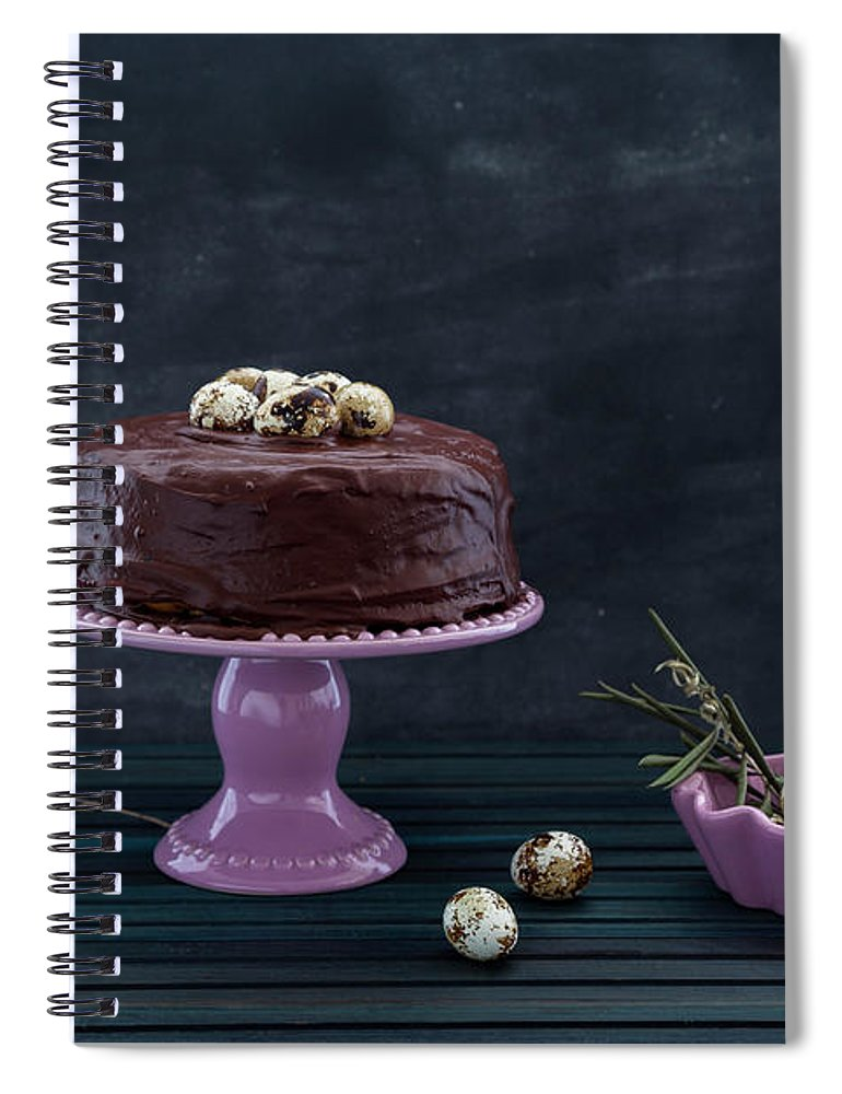 Easter Spiral Notebook featuring the photograph Easter Eggs by Flavia Morlachetti