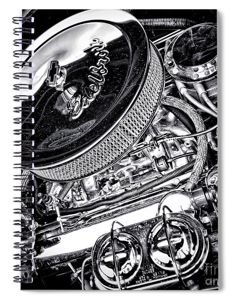 Edelbrock Spiral Notebook featuring the photograph Edelbrock by Olivier Le Queinec