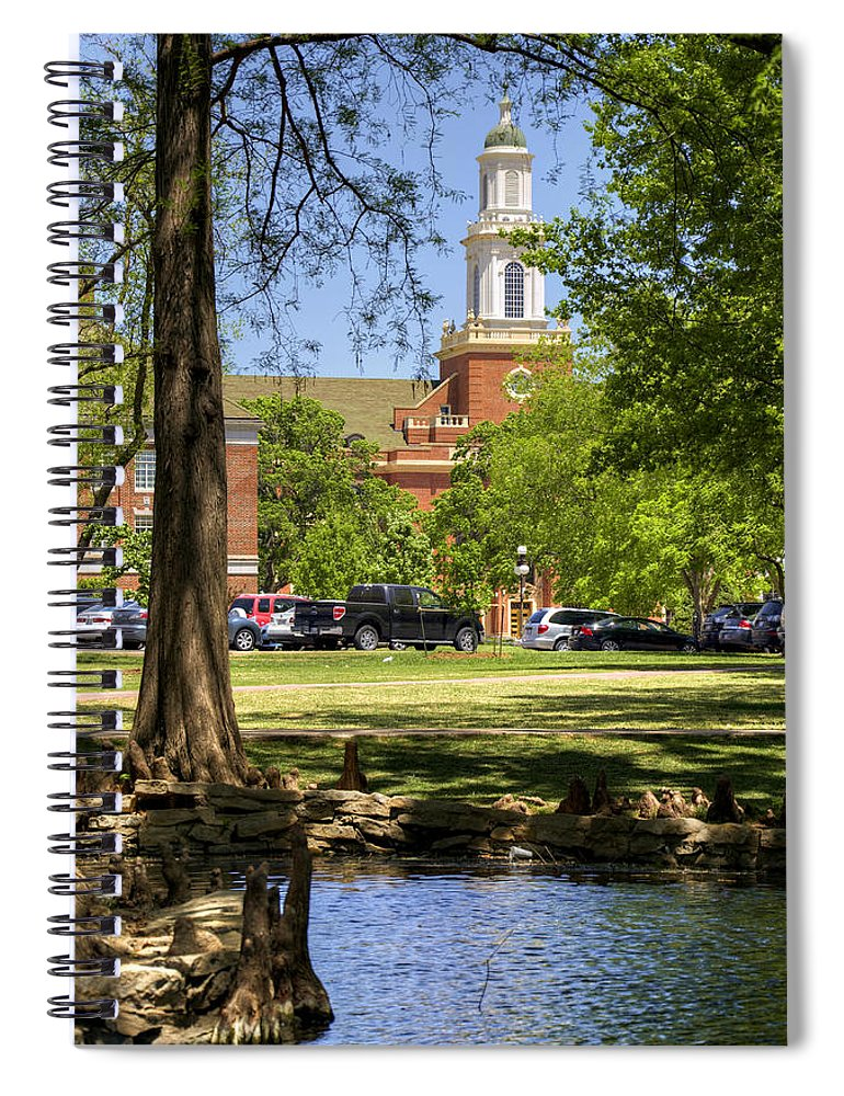 Oklahoma Spiral Notebook featuring the photograph Edmon Low Library by Ricky Barnard
