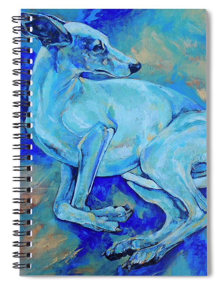 Dog Spiral Notebook featuring the painting Effects Of Gravity-2 by Derrick Higgins