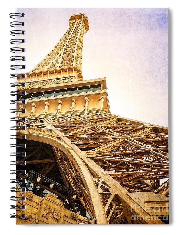 Eiffel Spiral Notebook featuring the photograph Eiffel Tower by Edward Fielding