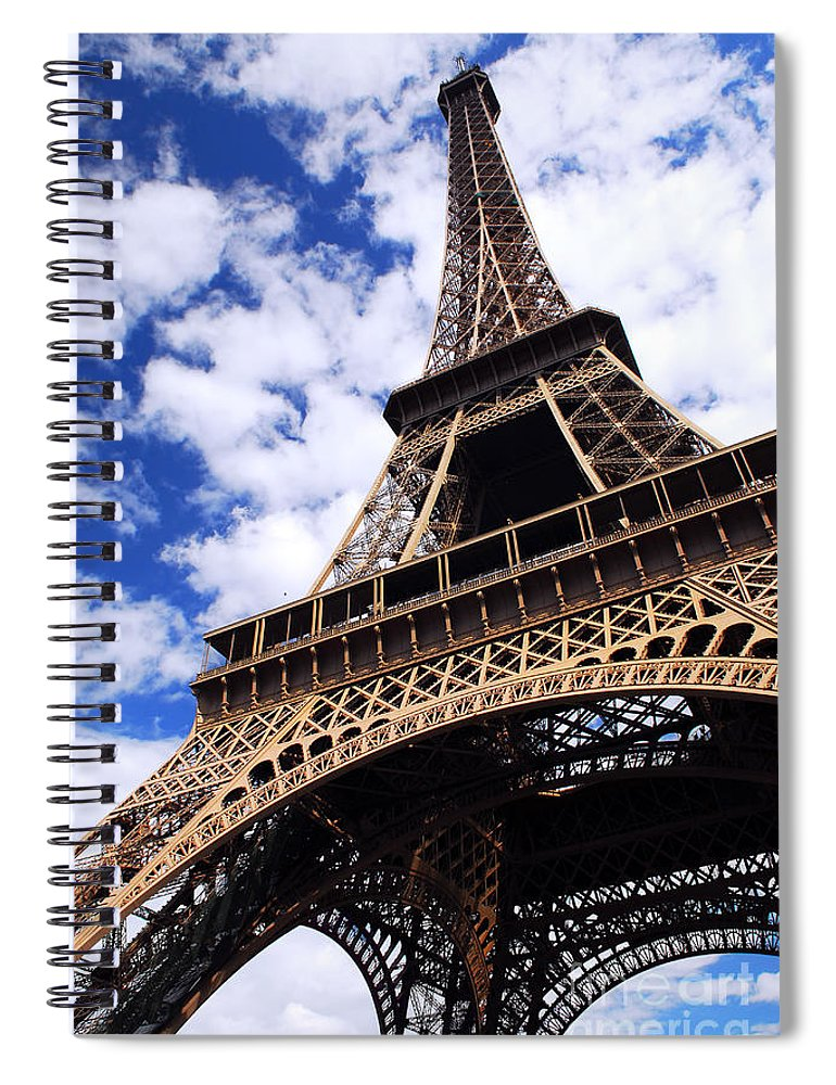 Eiffel Spiral Notebook featuring the photograph Eiffel Tower by Elena Elisseeva
