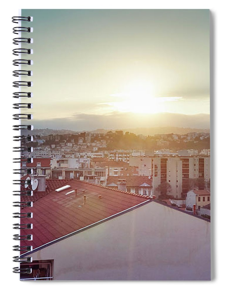 French Riviera Spiral Notebook featuring the photograph Elevated View Of City, Nice, France by Gu