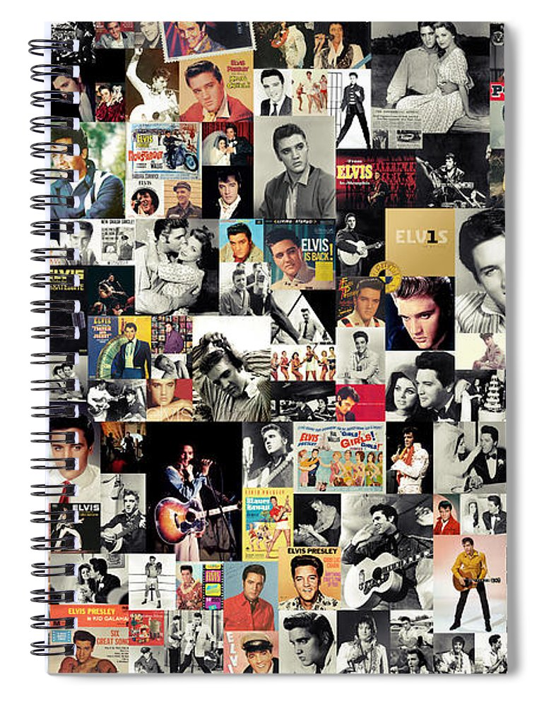 Elvis Presley Spiral Notebook featuring the digital art Elvis The King by Zapista OU