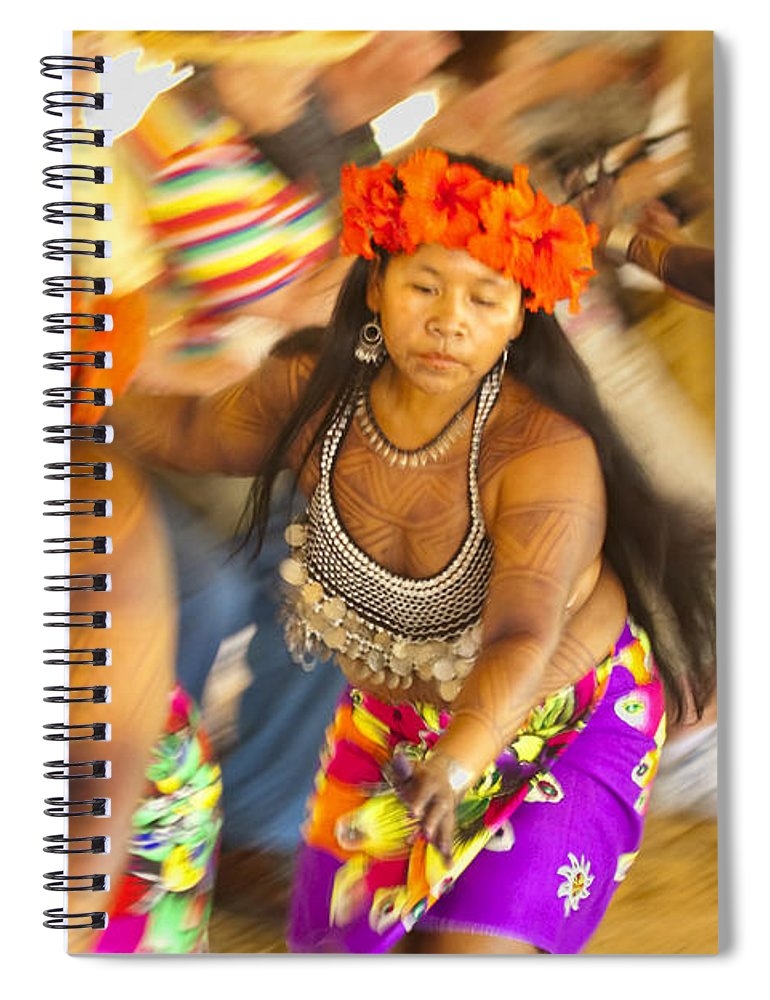 Embera Spiral Notebook featuring the photograph Embera Villagers In Panama by David Smith