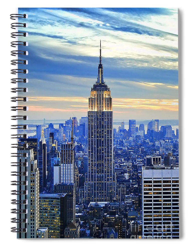 New York City Spiral Notebook featuring the photograph Empire State Building New York City USA by Sabine Jacobs