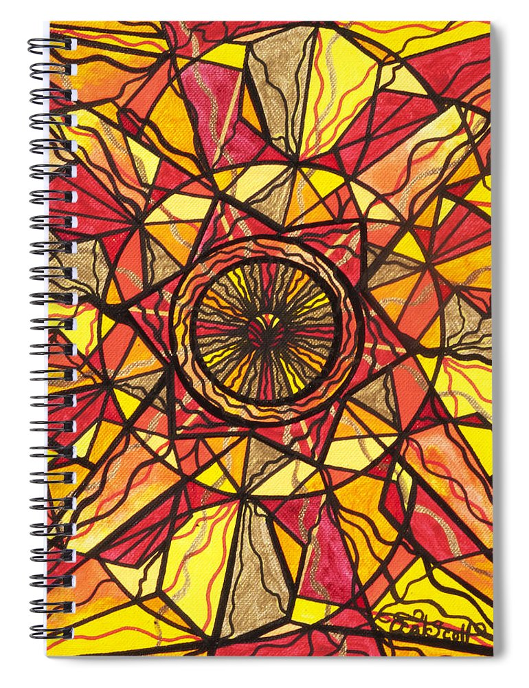 Empowerment Spiral Notebook featuring the painting Empowerment by Teal Eye Print Store