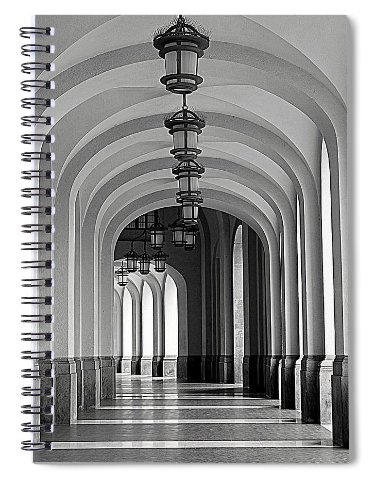 Arch Spiral Notebook featuring the photograph Empty Road by Getty Contibu