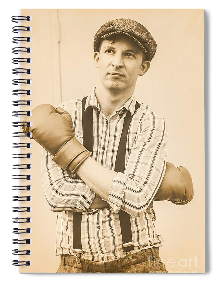 Aged Spiral Notebook featuring the photograph English Boxing And The Pride Of London by Jorgo Photography - Wall Art Gallery