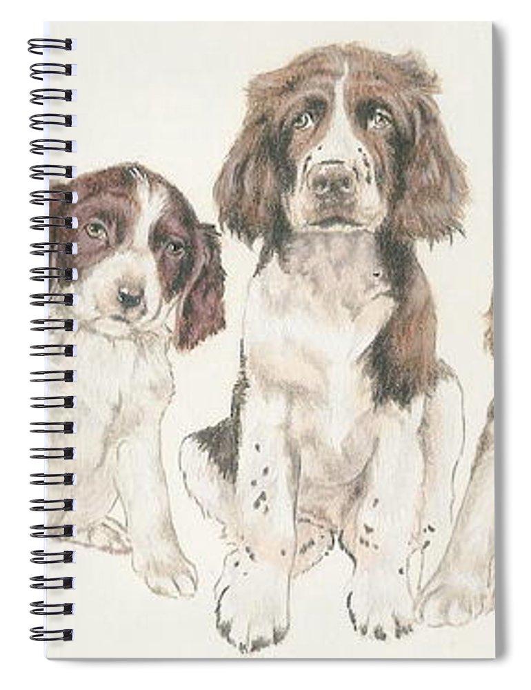 English Springer Spaniel Puppies Spiral Notebook